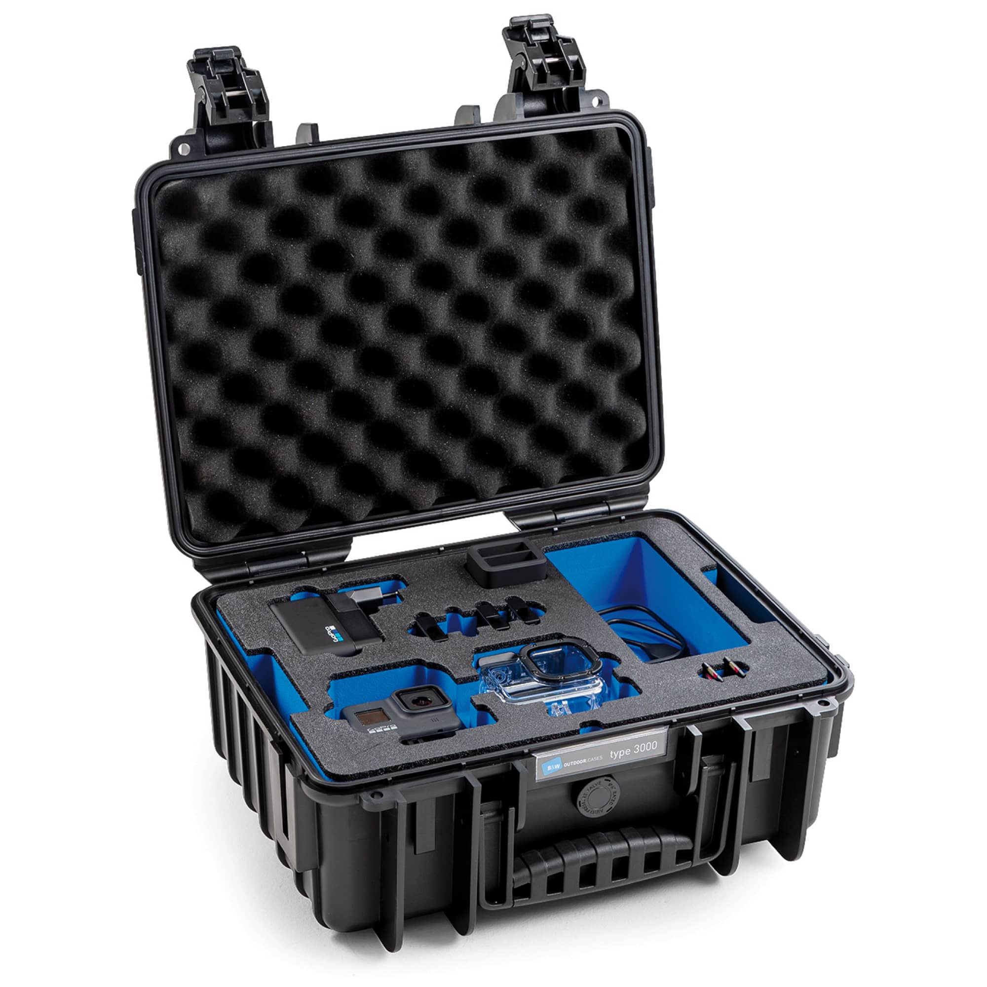 B&W Special Case Typ 3000 with 3D foam for GoPro 8