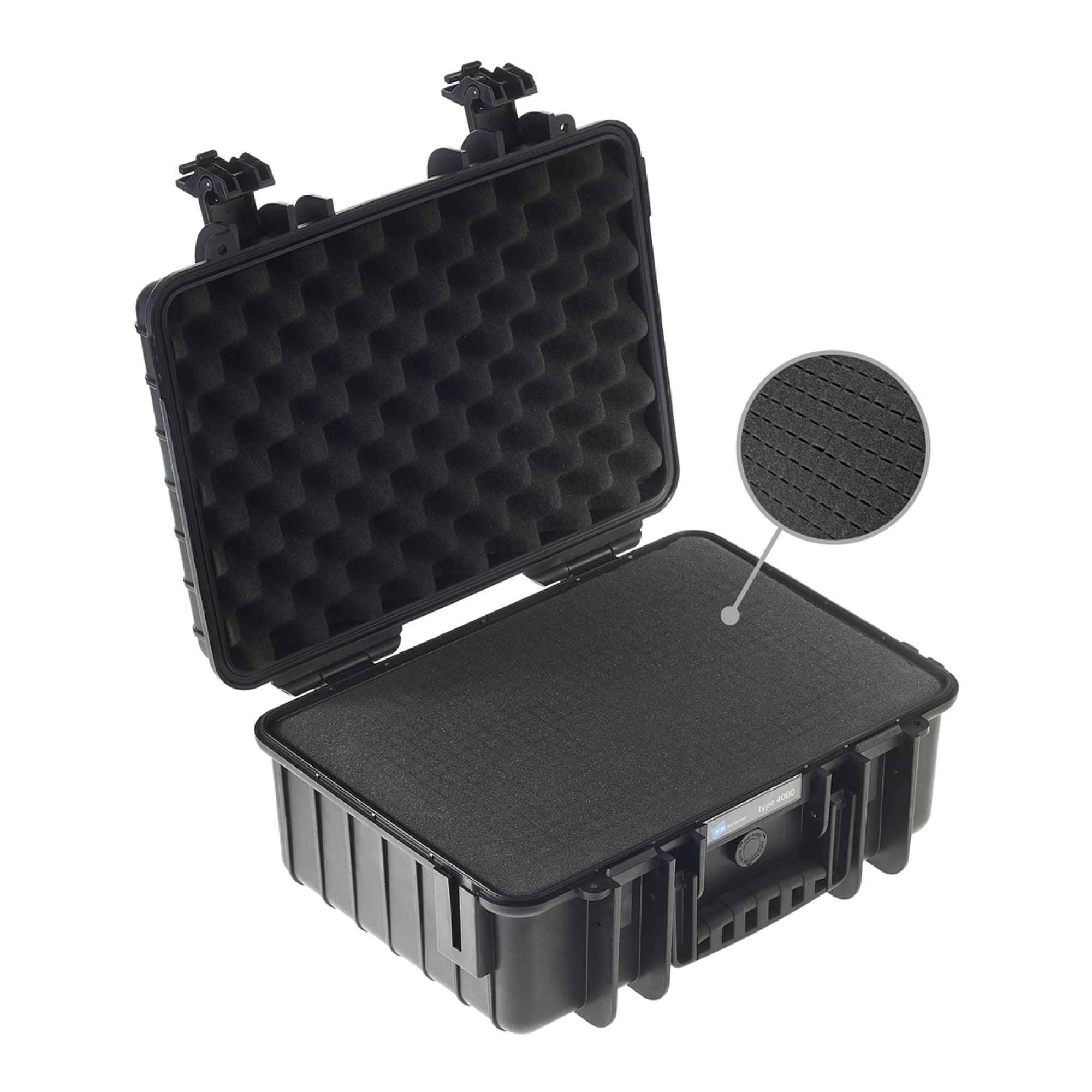 B&W Outdoor Case Typ 4000 black with pre-cut foam (SI)
