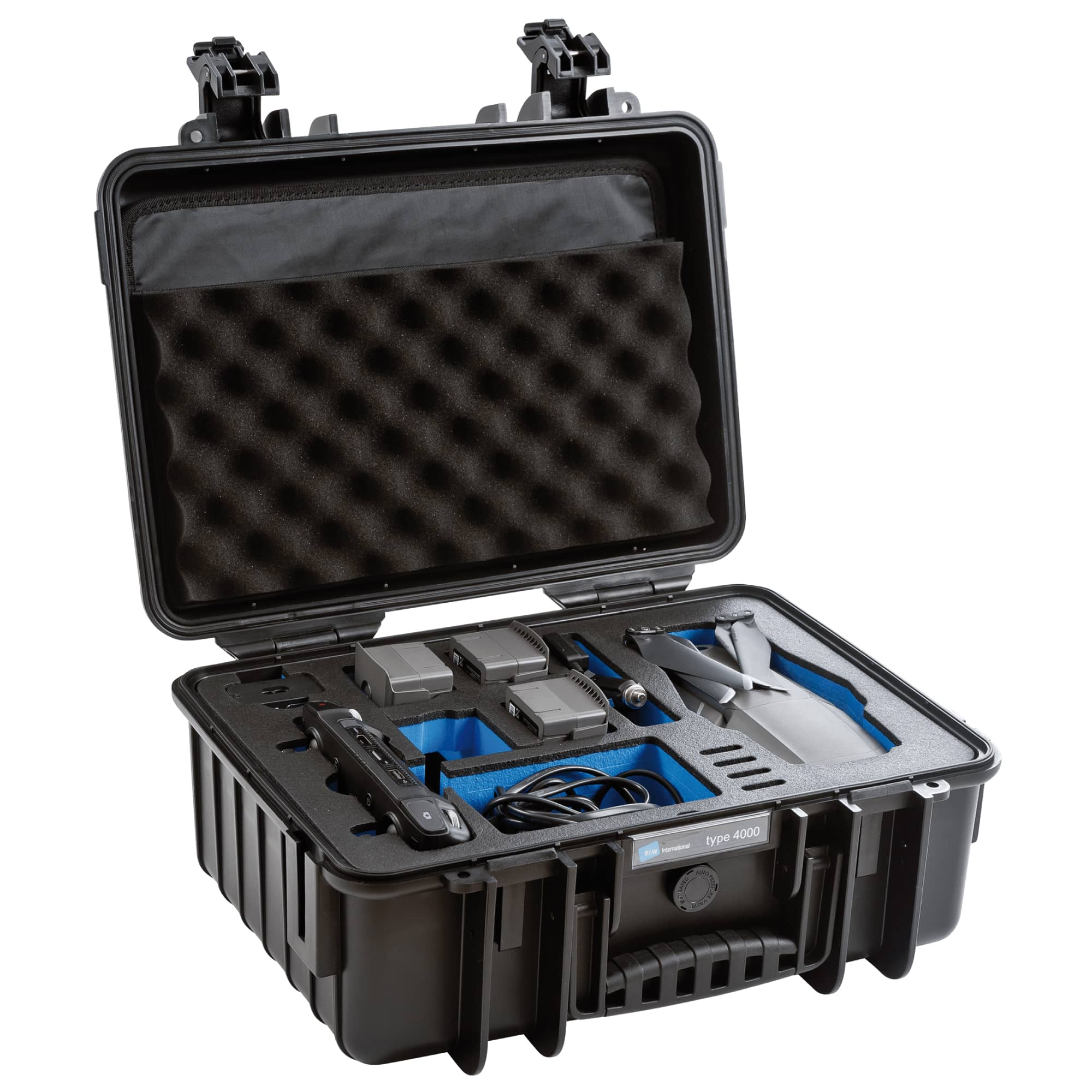 B&W Special Case Type 4000 with 3D foam for DJI Mavic 2 and Smart Controller