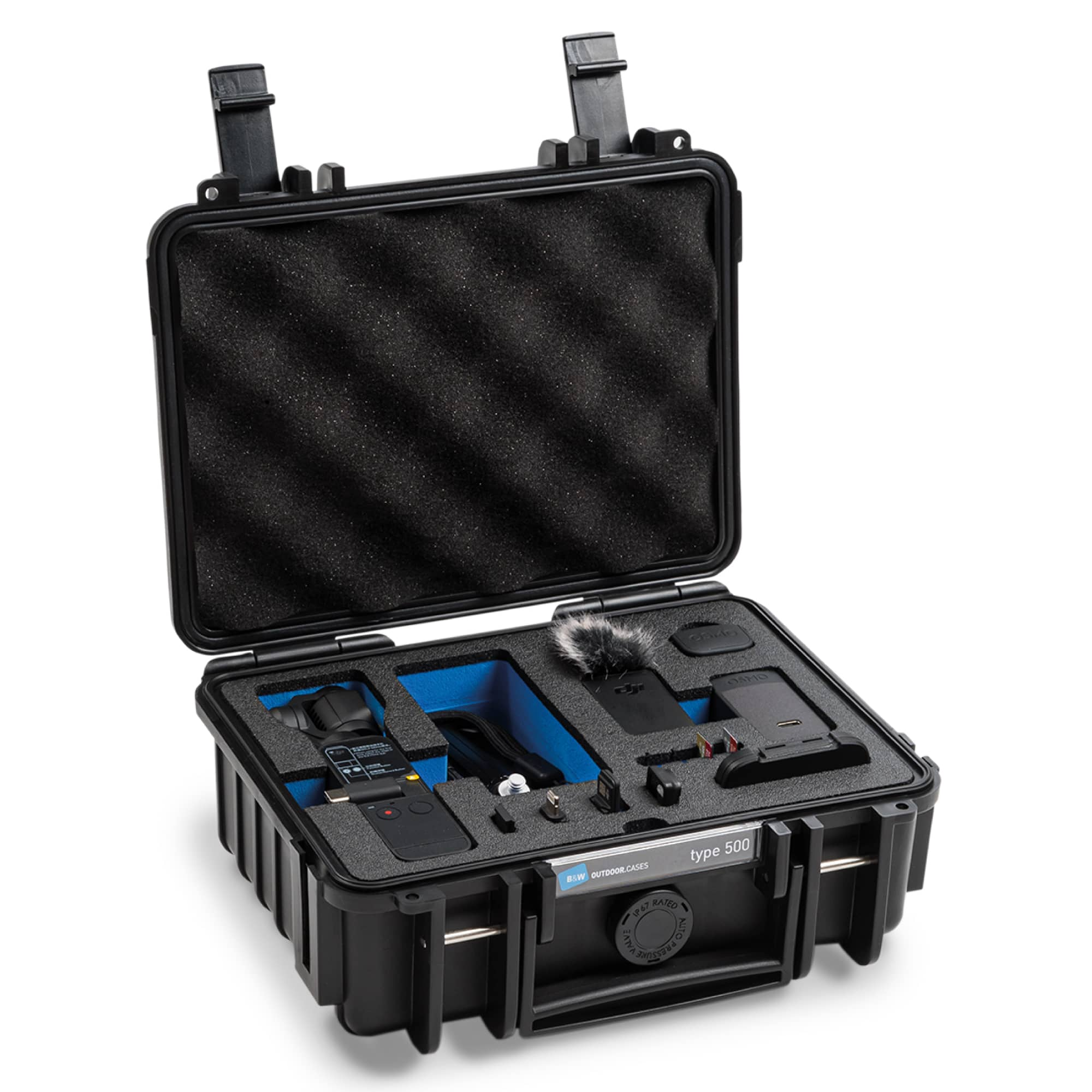 B&W Special Case Typ 500 with 3D foam for DJI Pocket 2