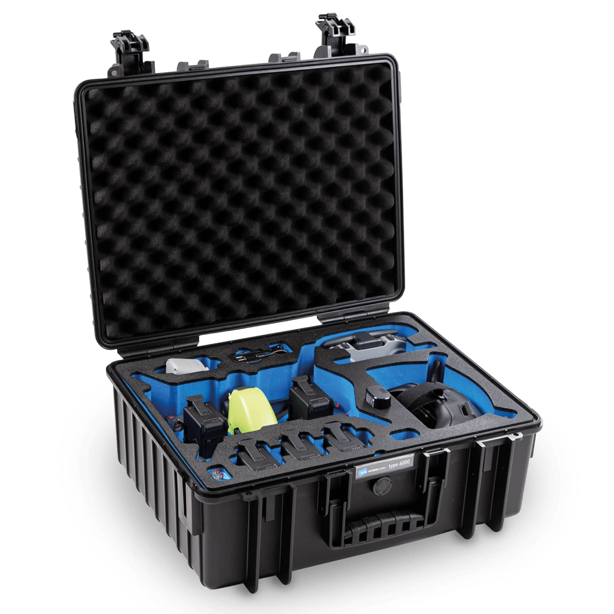 B&W Special Case Typ 6000 with 3D foam for DJI FPV Combo