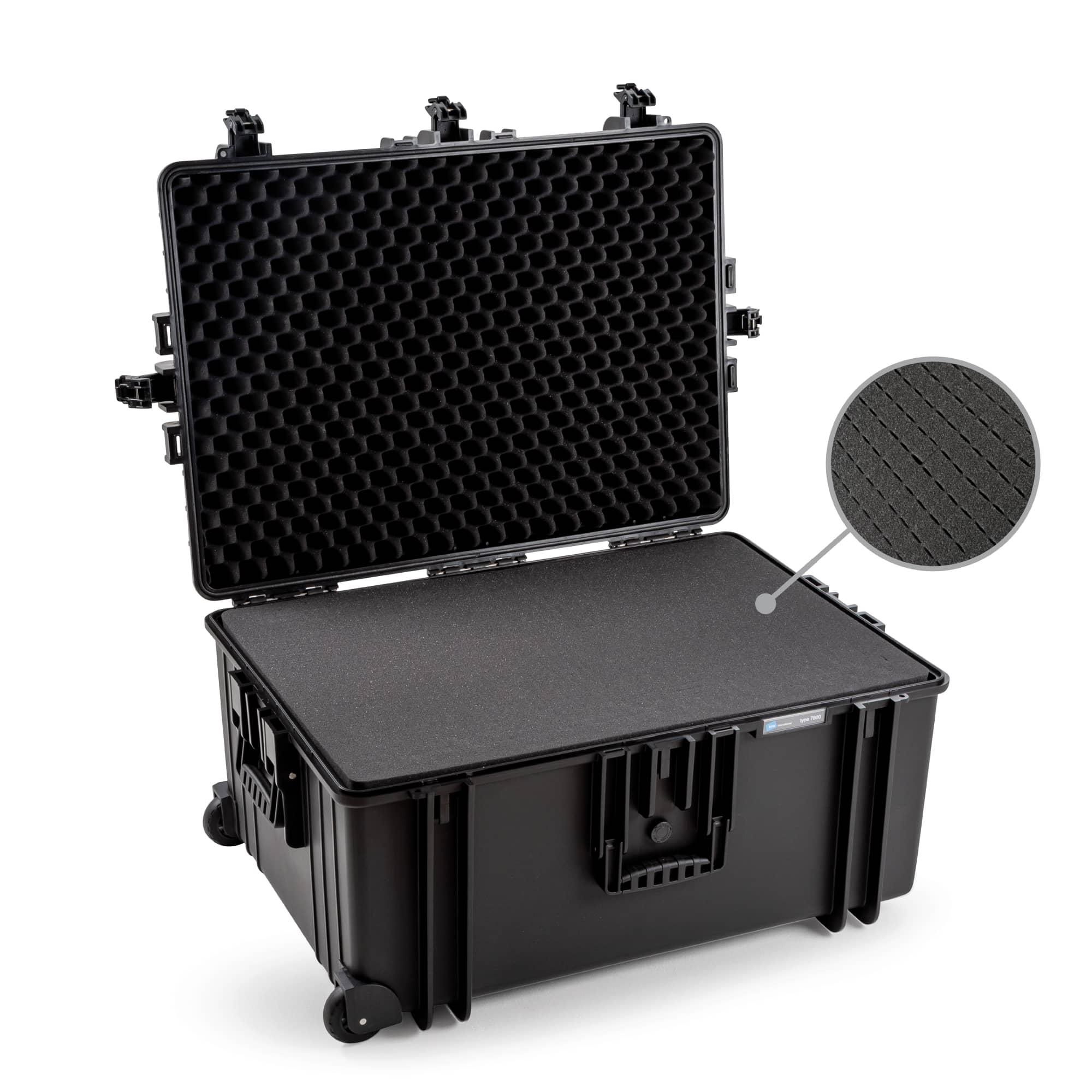 B&W Outdoor Case Typ 7800 schwarz mit Würfelschaum (SI)